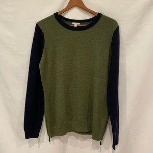 Talbots green blue color block sweater Sz M